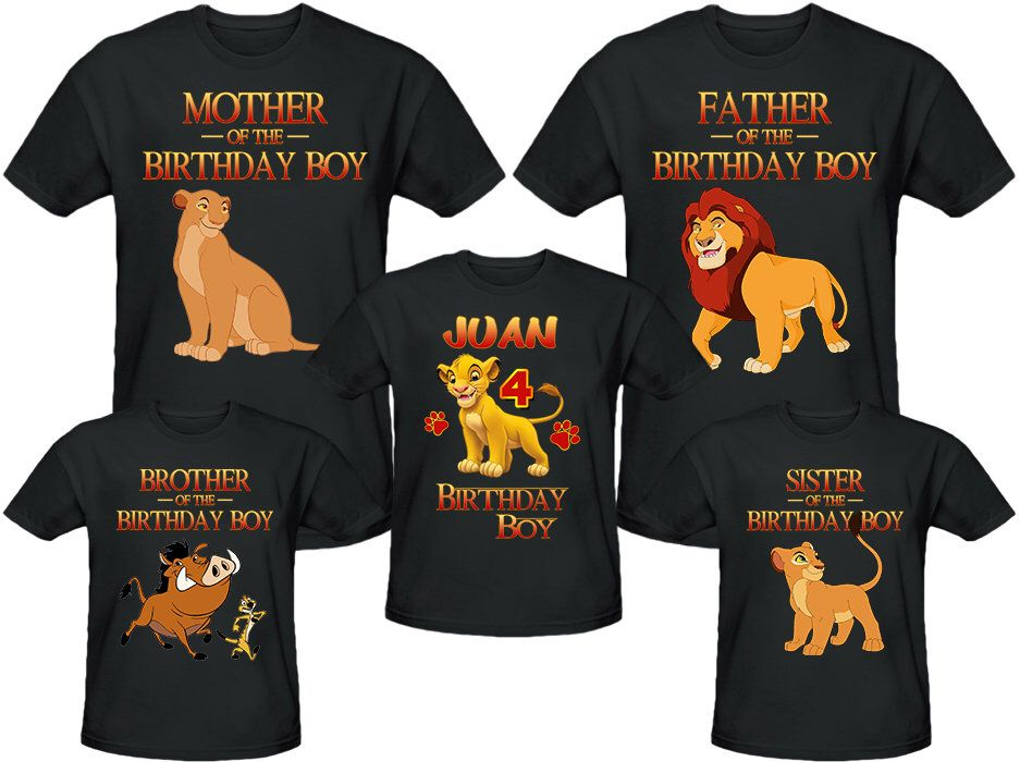 Lion King Birthday Shirt Personalized Name and Age