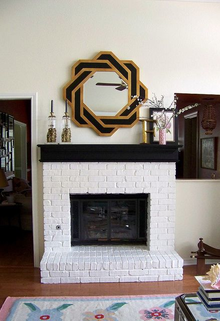Black Mantle White Fireplace Living Room Paint Paint Fireplace