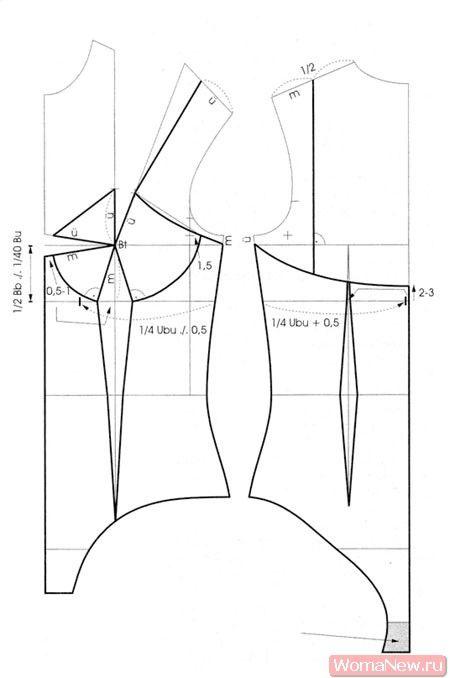 Построение выкройки боди женского белья очки массажеры для