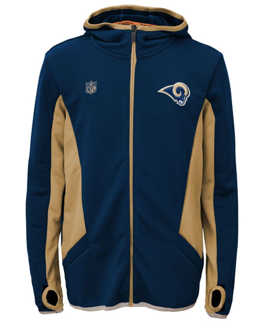 Outerstuff Boys' St. Louis Rams Strike Full-Zip Hoodie
