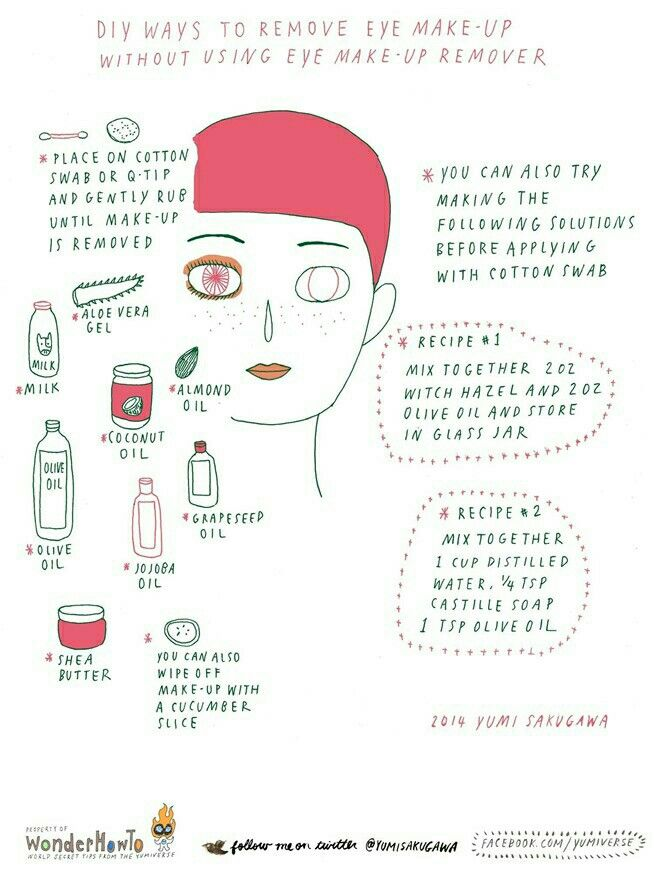 Hoe to remove eye makeup with DIY recipies