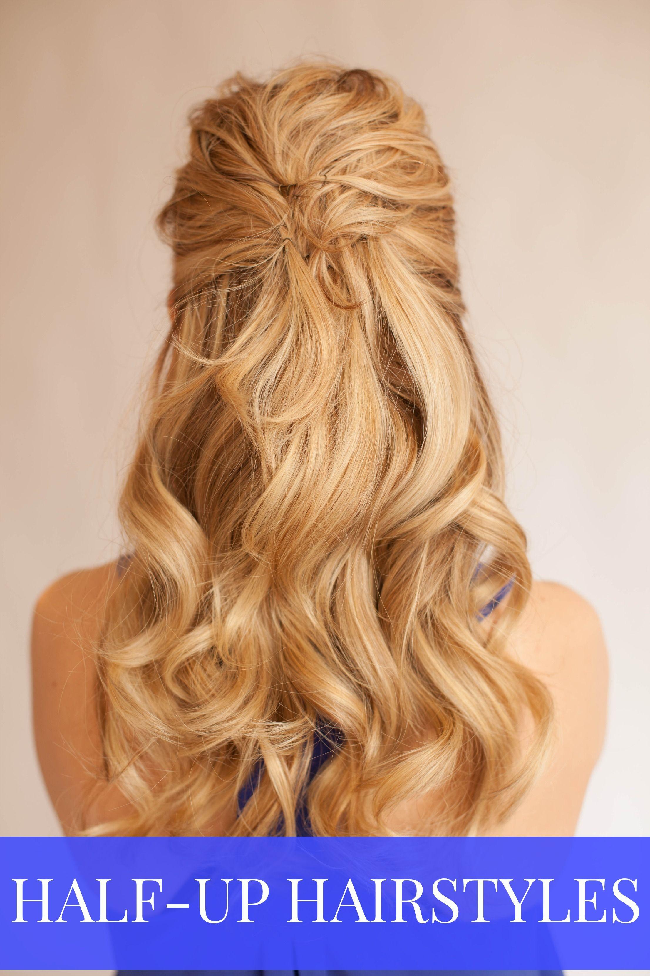 The prettiest halfup halfdown hairstyle for prom weddings hair