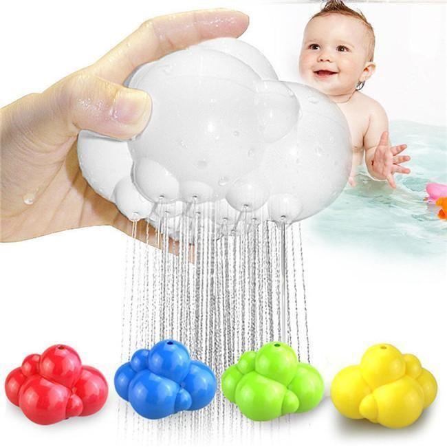 Baby Child Rain Cloud Enlightening Bath Bathing Tub Creative Shower Funny Toys Q