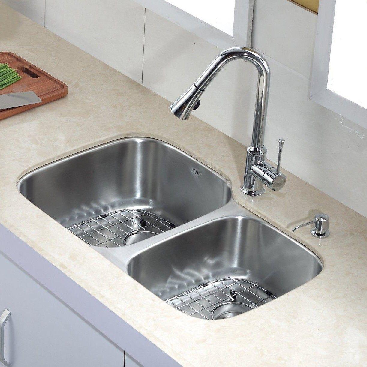 Kitchen Combos 32 X 20 75 Double Bowl Undermount Kitchen Sink