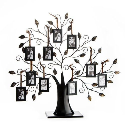 Klikel Family Tree Picture Frame With 10 Hanging Picture