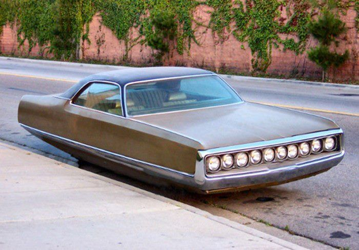 1970 Chrysler New Yorker Hover Car by Beni Bischof.