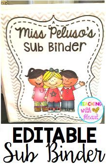 Do you hate writing sub plans? This EDITABLE sub binder is the EASIEST way to prepare for a sub! Tons of EDITABLE templates to keep in your binder and EDITABLE lesson plans to switch out when you're going to have a sub! Take a closer look inside now!