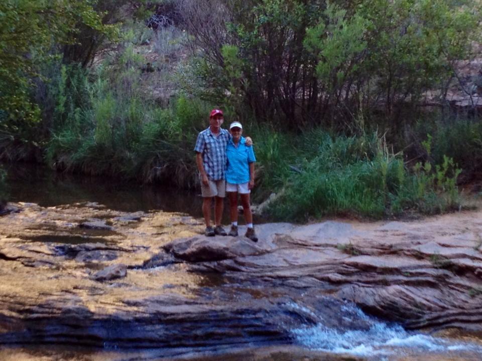Hiking through Negro Bill Canyon, a great creek runs through it.