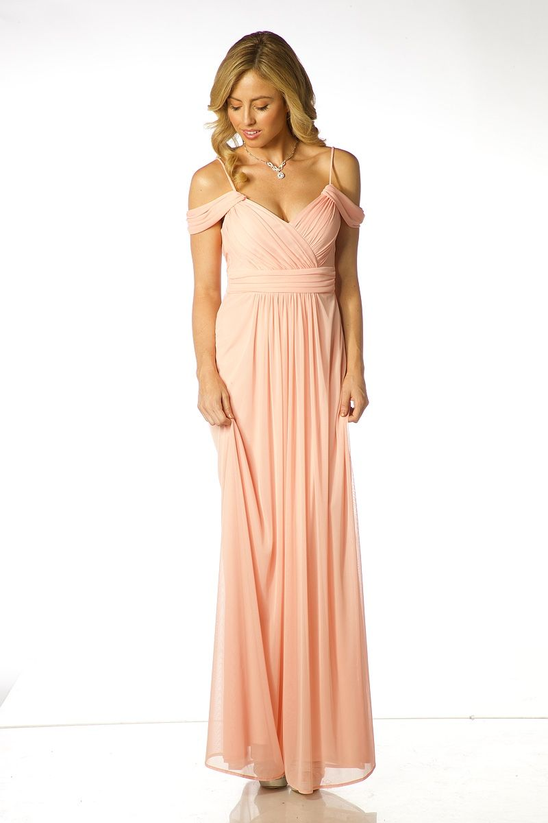 Long evenin dress ft solid color aline shape long evening