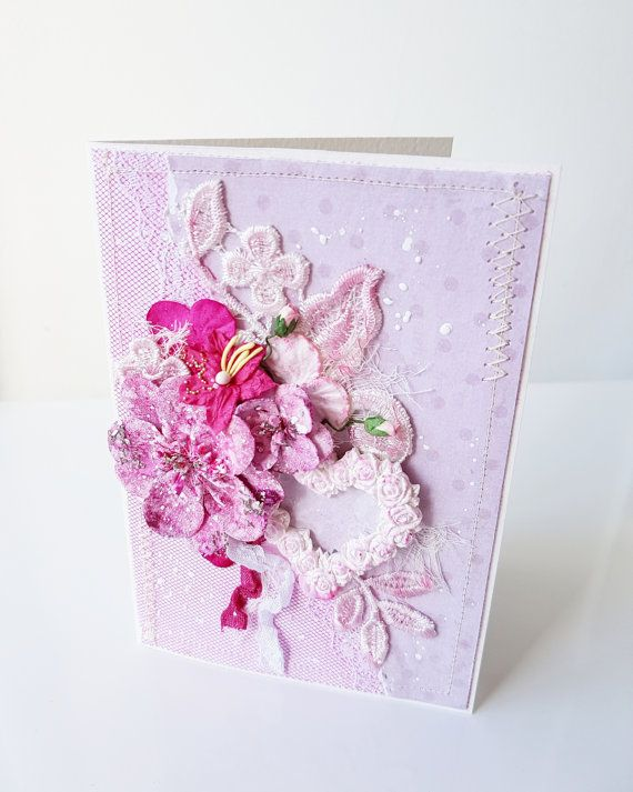 Paper Greeting Cards Handmade Valentines Day Gift Card For