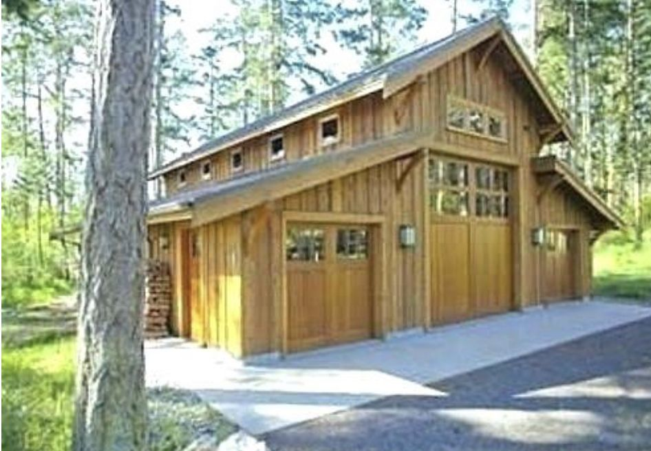 Pin By Franklin Hom On Anderson Cabin Barn Garage Pole Barn Garage Barn House