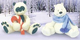 Holiday Bears - Polymer Clay (with instructions)