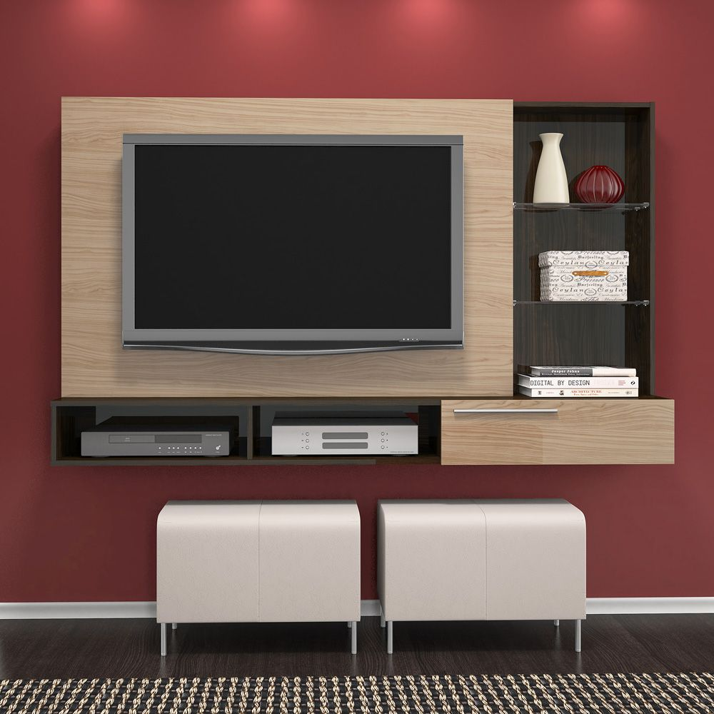 Painel Tv At 55 Ayla P Rola Caf Madetec Furniture  # Muebles Caemmun