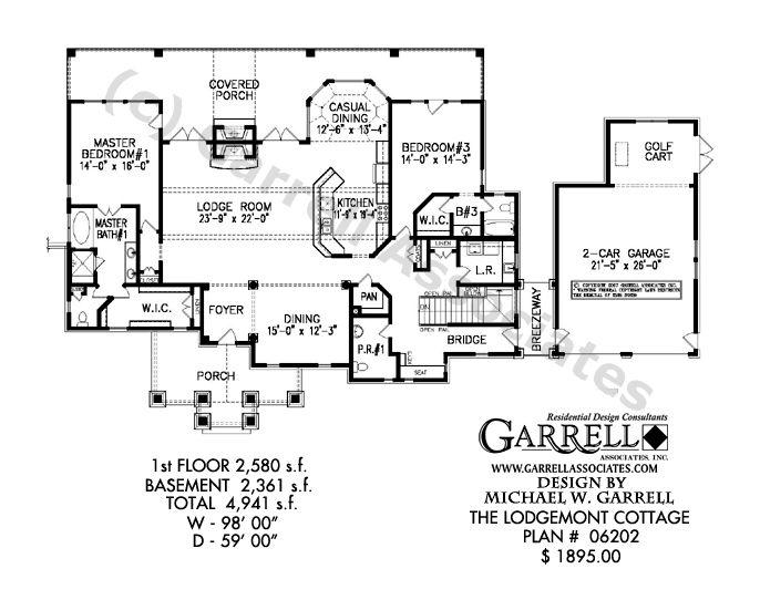 Lodgemont Cottage House Plan Garrell Associates Inc