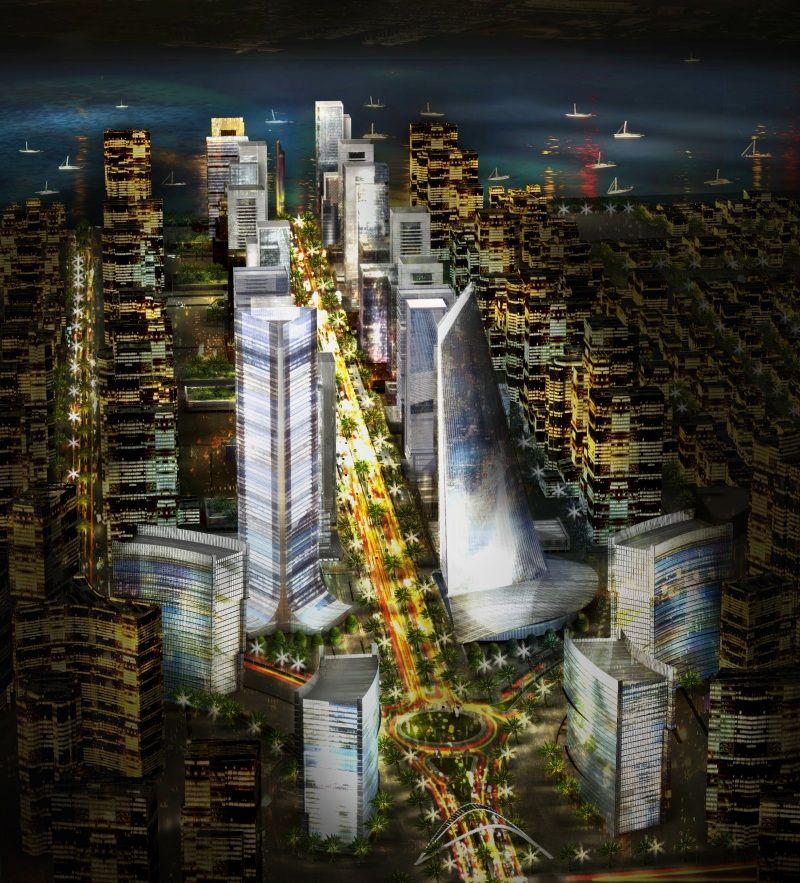 Eko Atlantic, Nigeria Africa, West africa, City architecture