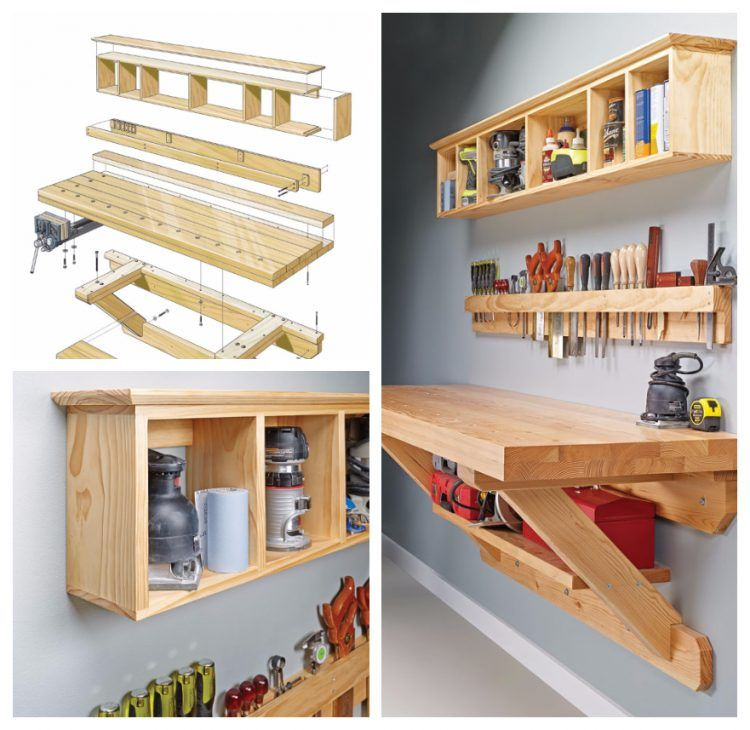 Easy Diy Garage Shelves Diy Projects: 20+ Easy And Cheap Garage Storage Ideas