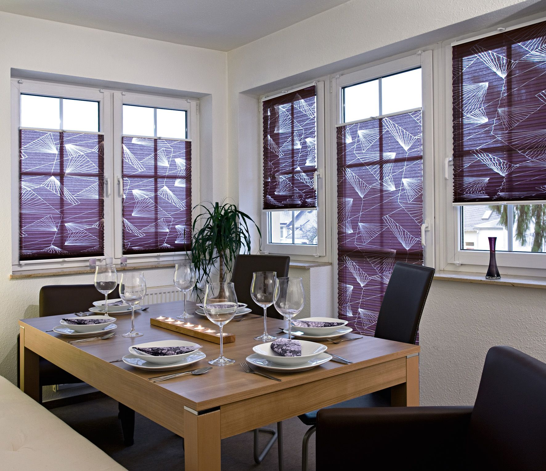 Custom pleated blinds from fenstermann llc made in germany