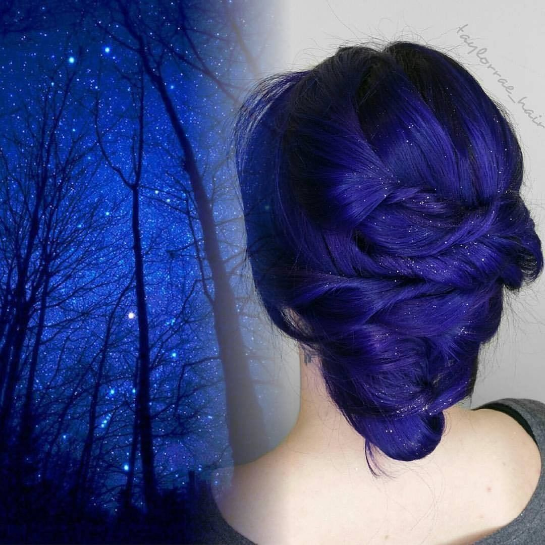 {#VPInspiration} Amazing dark blue color by @taylorrae_hair