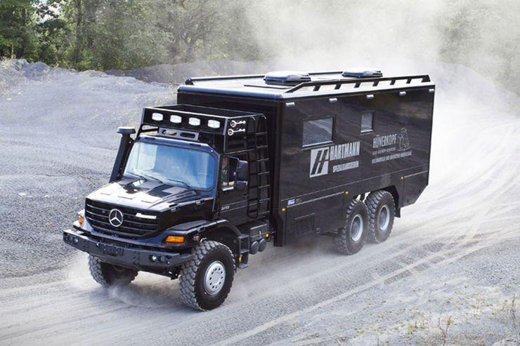 mercedes zetros 6x6 luxus wohnmobil mercedes zetros 6x6. Black Bedroom Furniture Sets. Home Design Ideas