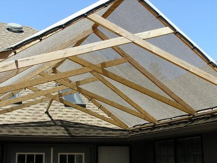 Scissor Truss Shade Structure The Home Yard Yard Misc