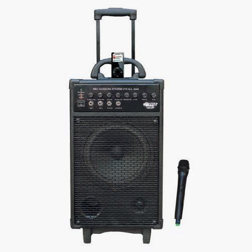 Best Pyle-Pro PWMA860I 500W VHF Wireless Portable PA System Echo W-Ipod Dock