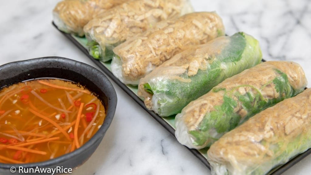 Shredded Pork Skin Fresh Spring Rolls Bi Cuon Easy Recipe With Video Recipe Shredded Pork Fresh Spring Rolls Spring Rolls