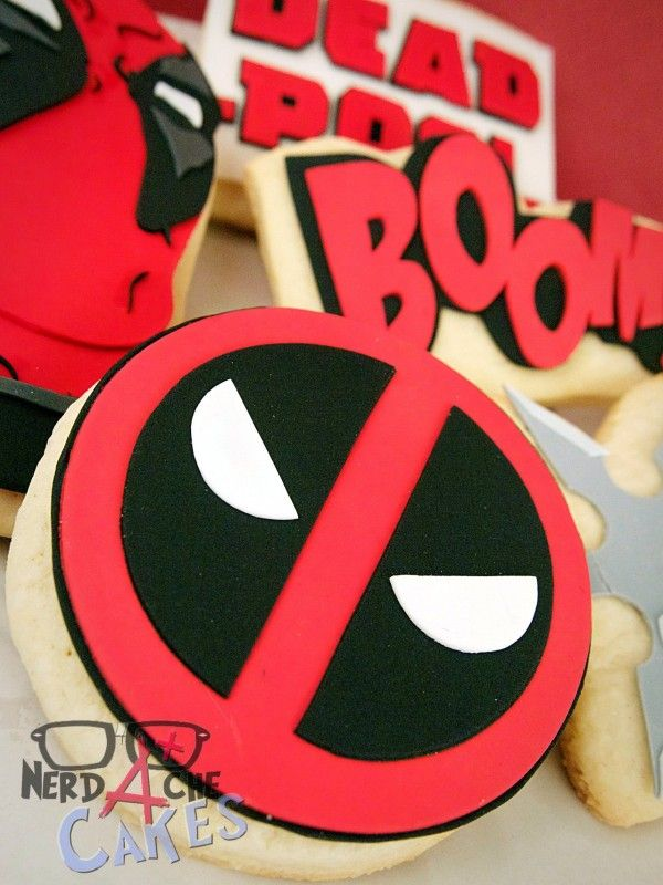 Deadpool Cookies | Ricos 10th | Pinterest