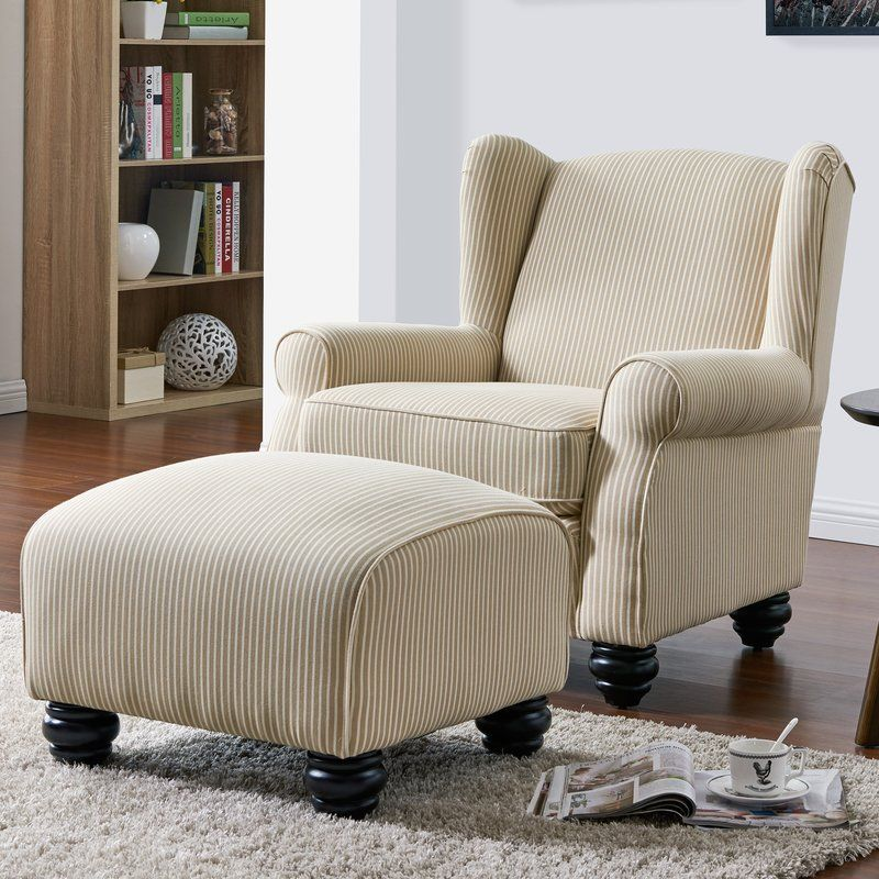 Brougham wingback chair and ottoman chair ottoman high