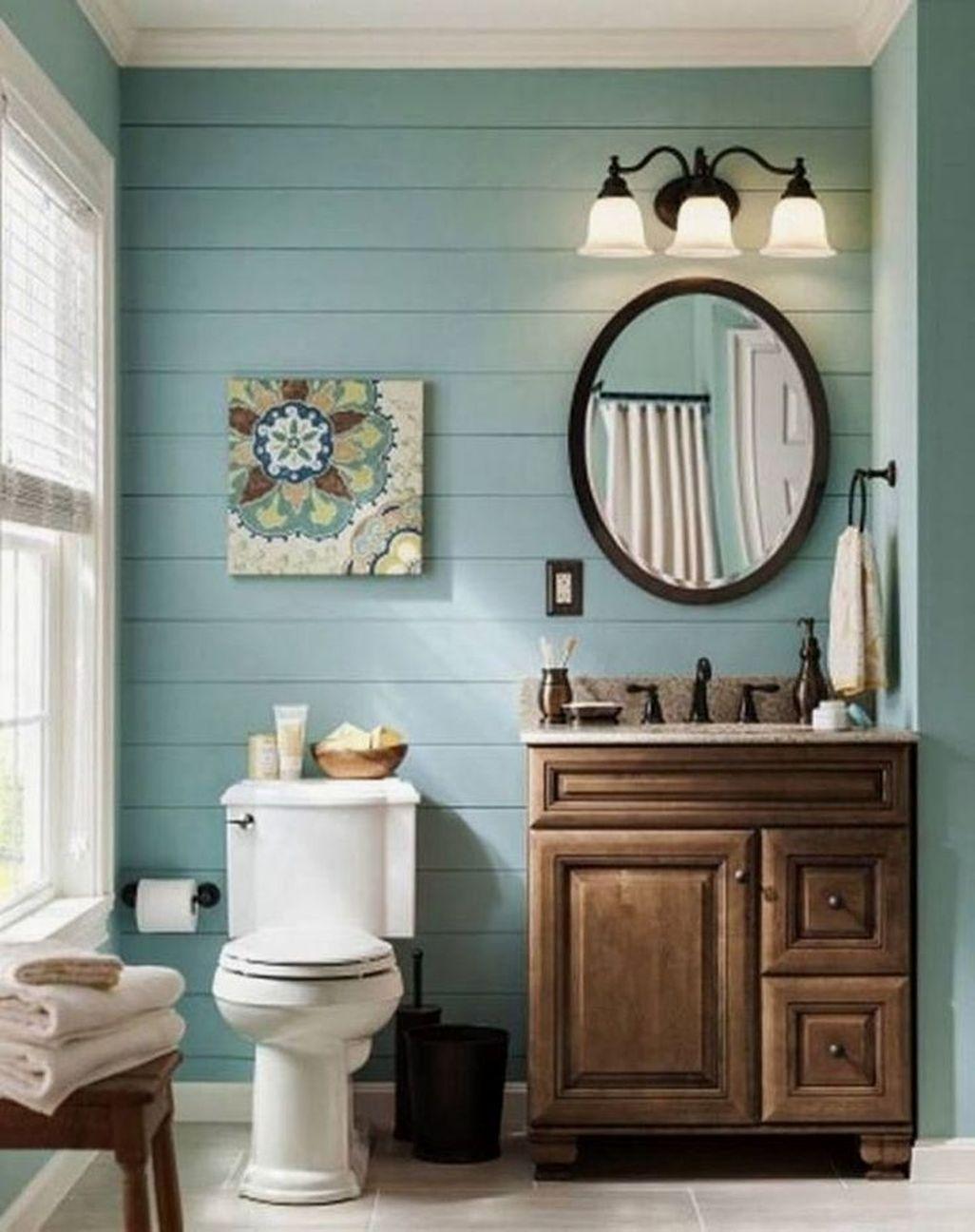 41 Affordable And Modern Farmhouse Bathroom Wall Color Ideas
