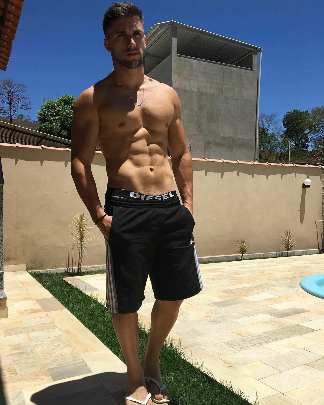 The Art of the Male Body | Gym men, Mens gym short, Male body