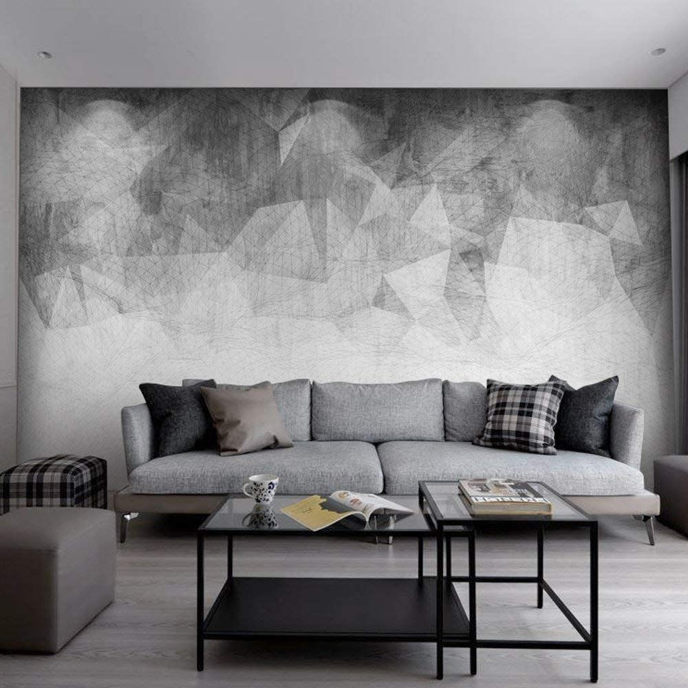 Sumgar Black And White Custom Wallpaper Self Adhesive Grey Modern Wall Murals For Office 100x144 Inches Supp Modern Spaces Wallpaper Bedroom Large Wall Murals