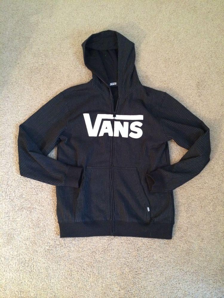VANS OFF THE WALL SKATEBOARD BOYS BLACK WHITE LOGO CLASSIC