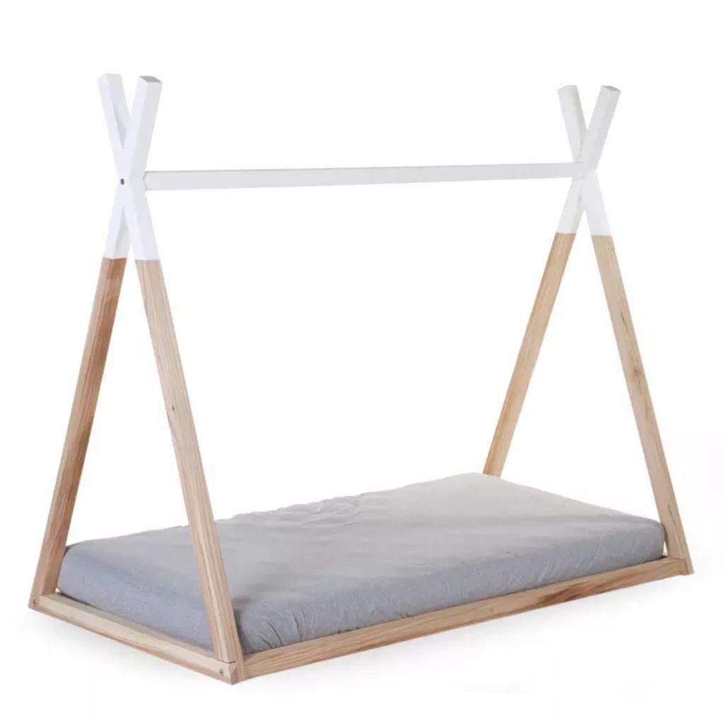 CHILDWOOD Spielbett Tipi 70x140 cm Holz Naturfarben und