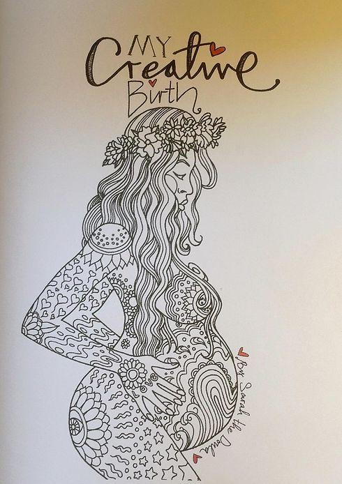 Sarah The Doula My Creative Birth Colouring Book Femme Enceinte