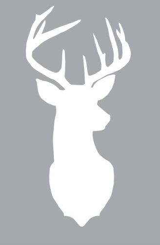 deer head silhouette free printout a modern take on our love for