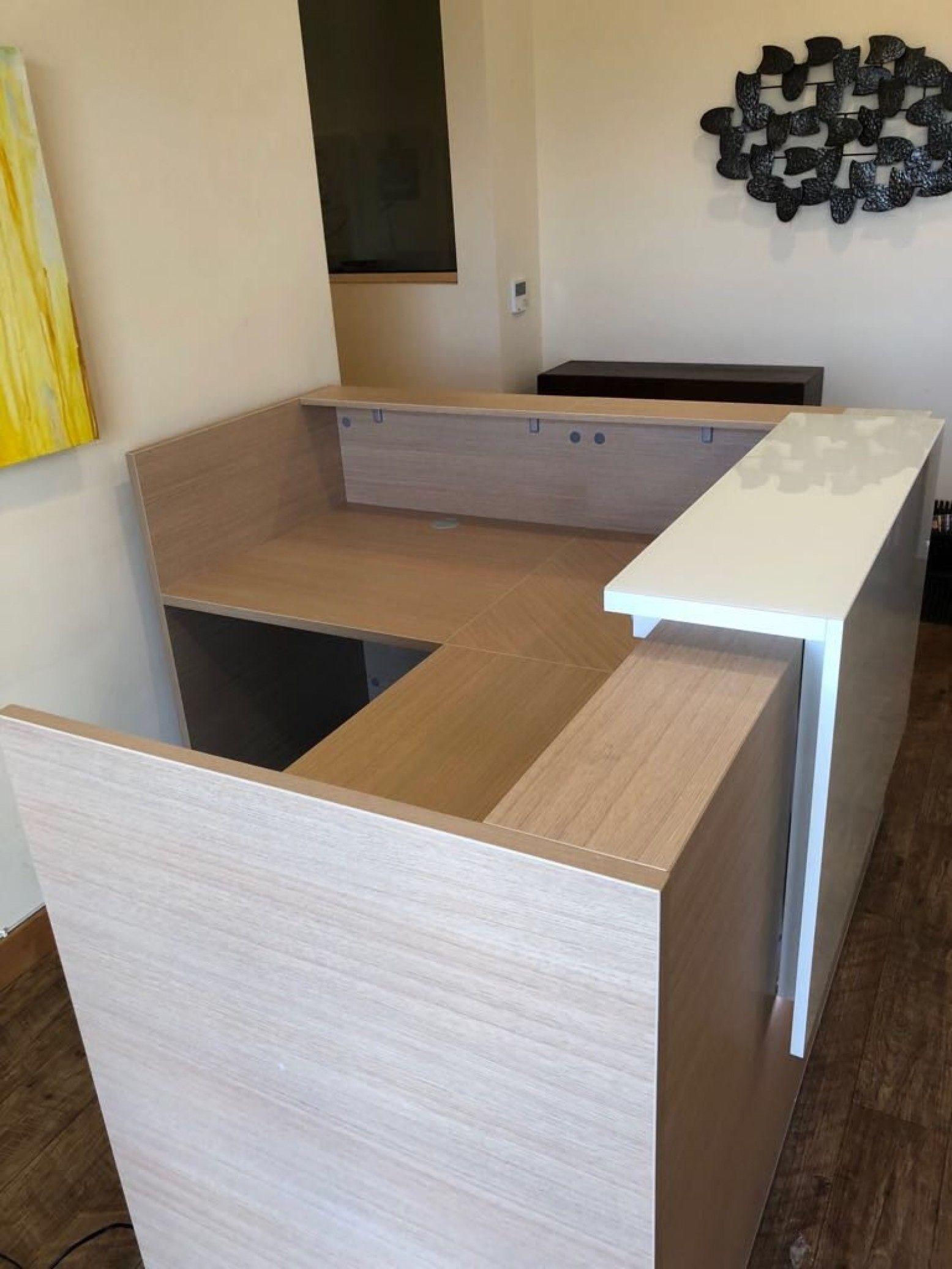 Small L Shaped Reception Desk Office Furniture Right Or Left Return In 6 Colors Reception Desk Office Reception Table Design Reception Desk Office Furniture