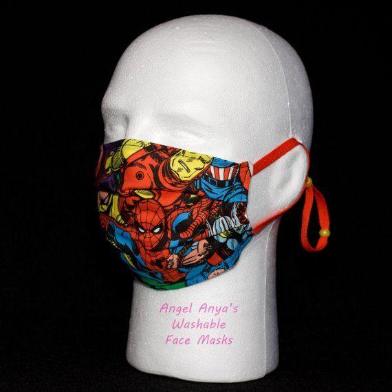 Marvel Child Superheroes amp; Adult Medical Masks Print Face Washable