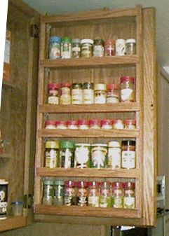 High Quality Spice Rack With Extended Shelf Restraints For Door Mounting. This Site Has  Lots Of Door. Spice CabinetsKitchen ... Design