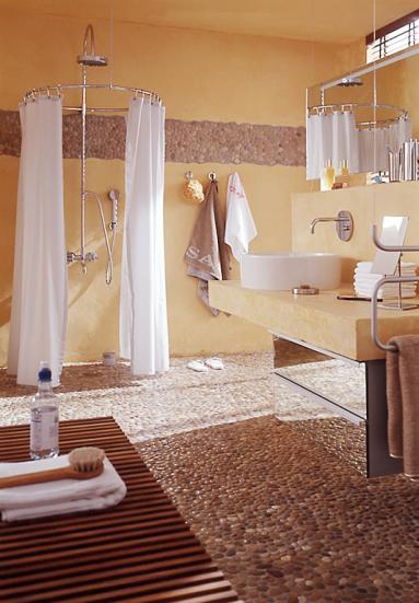Badfliesen Ideen Fur Jeden Geschmack Flusskiesel Badezimmer Fussboden Badezimmerideen