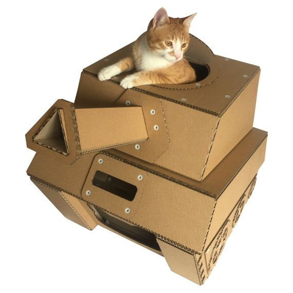 tank cardboard cat house cat bed cat carrier cat condo. Black Bedroom Furniture Sets. Home Design Ideas