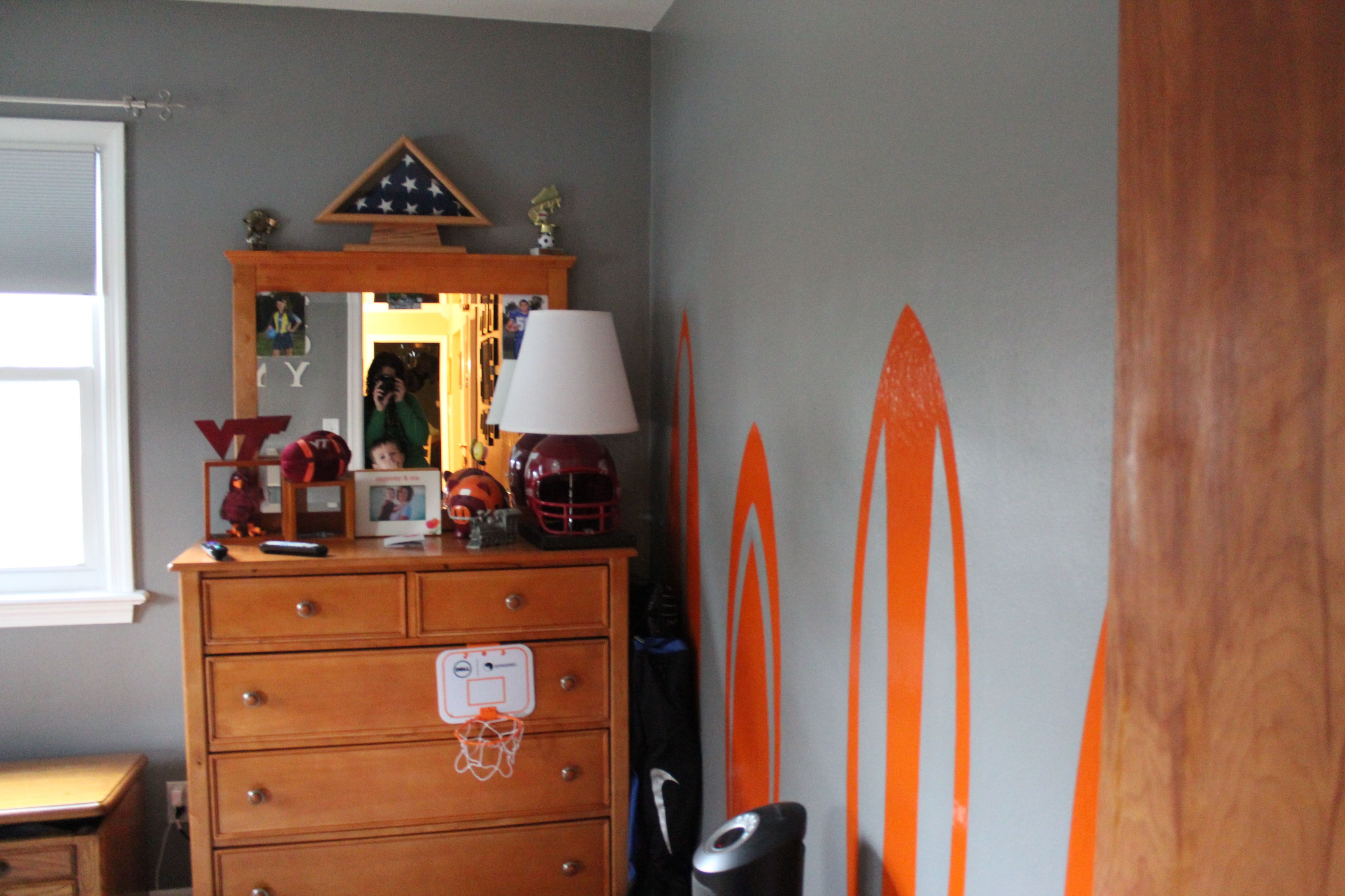 The Finished Room   Gray Walls And Orange And