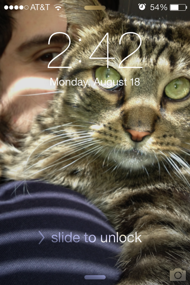 The wallpaper on your phone is—you guessed it—you and your pet. | 24 Signs Your Pet Is Your Real Best Friend