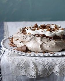 Chocolate pavlova. I love this recipe. I've never made the dark chocolate cream for it though.
