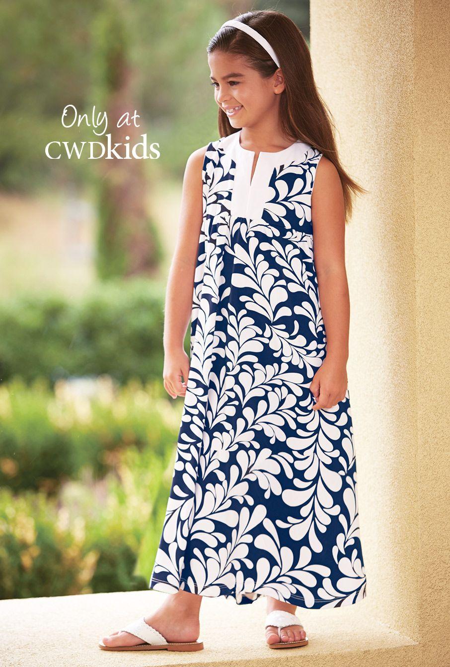 932194b2bdbd From CWDkids  Leaf Print Maxi Dress