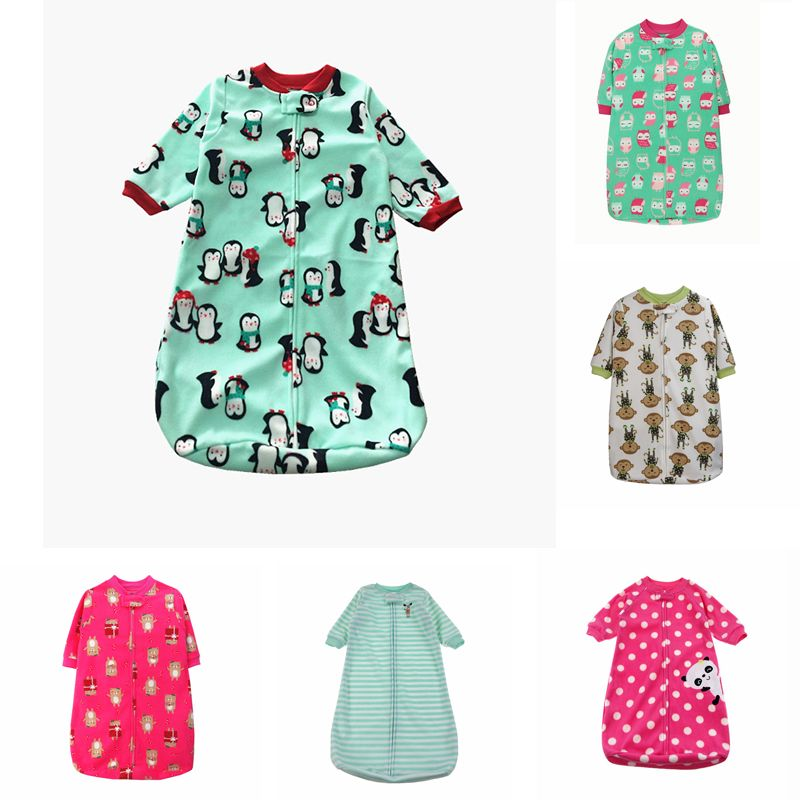 Baby-schlafsack Niedlichen Schlaf Sack Für Neugeborene Polarfleece Säuglings Kleidung stil schlafsäcke Hülsenspielanzug für 0-9 Mt gigoteuse