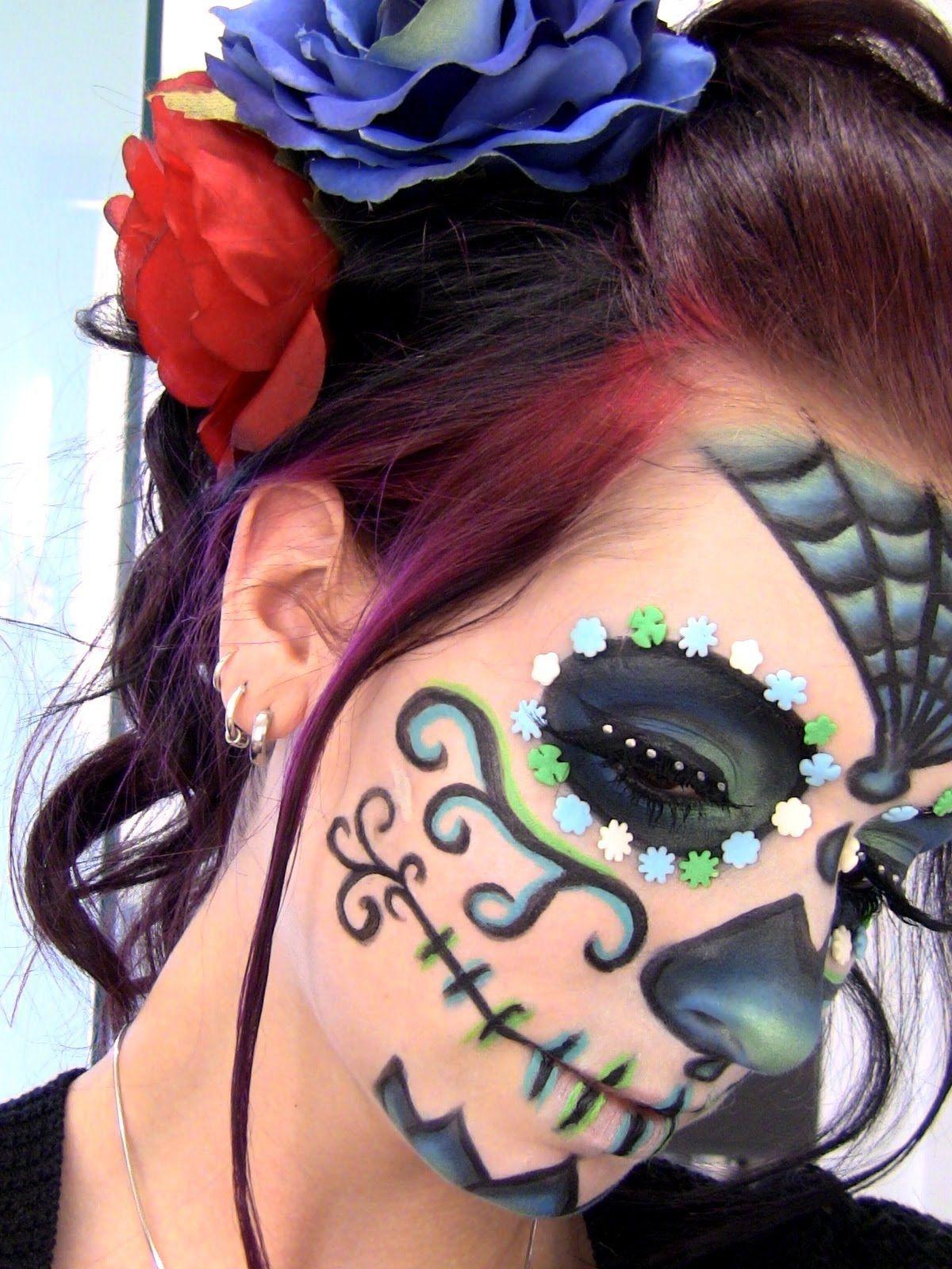 Crane espagnol maquillage - Maquillage halloween tete de mort mexicaine ...