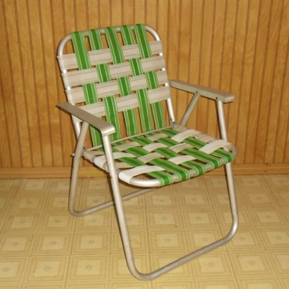 vintage woven folding lawn chair - Folding Outdoor Chairs