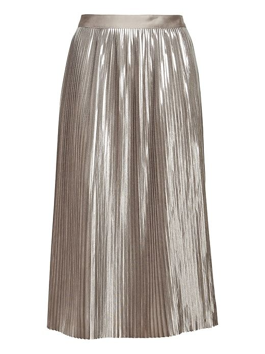 find lowest price cheaper sale differently Banana Republic Metallic Pleated Midi Skirt   Products in ...