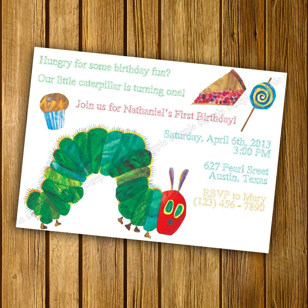 Very Hungry Caterpillar Birthday Party or Baby Shower Invitation ...