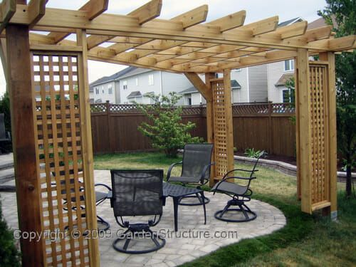 A simple 3 post pergola design. We design shade structures for clients  around the globe. Let us design a 3 post pergola or shade structure for you! - 3 Post Pergola Design - A Shade Structure With 3 Support Posts